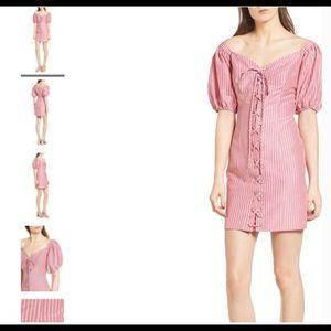 WAYF Frankie Corset Lace Up Dress